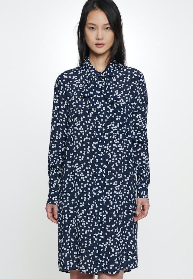 Crepe Midi Dress made of 100% Viscose in Dark blue |  Seidensticker Onlineshop