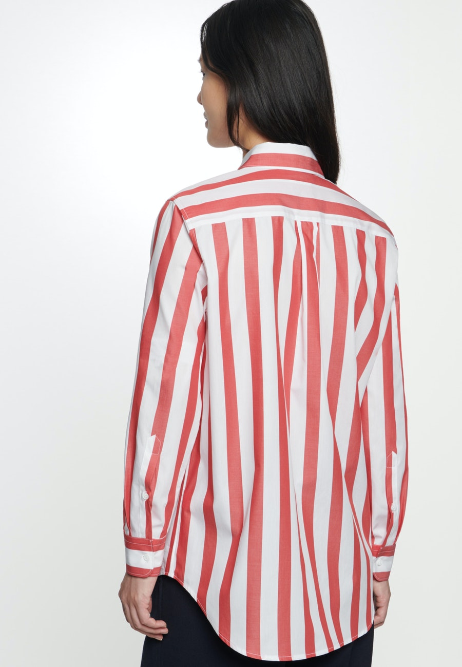 Popeline Shirt Blouse made of 100% Cotton in Red    Seidensticker Onlineshop