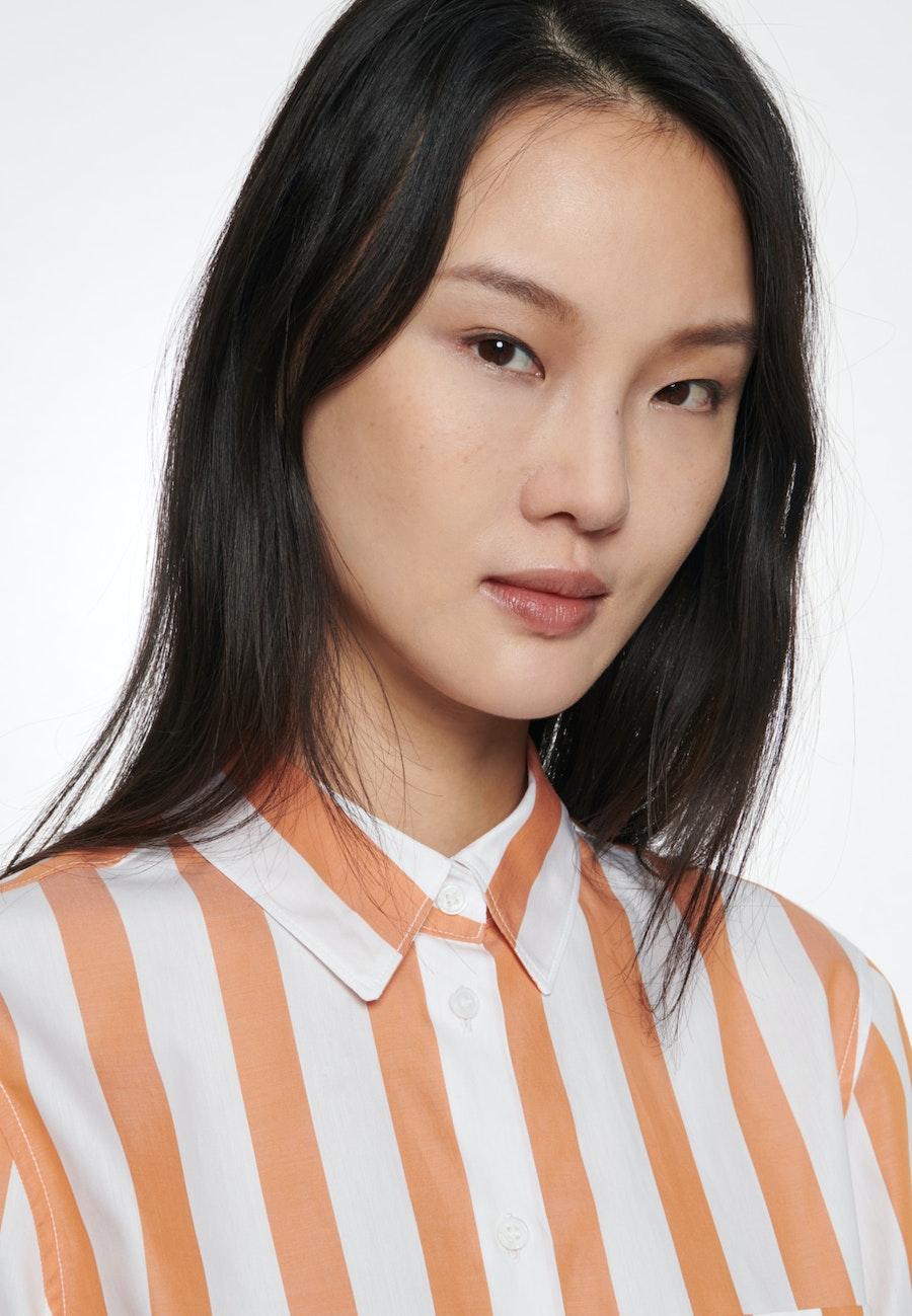 Poplin Shirt Blouse made of 100% Cotton in Orange |  Seidensticker Onlineshop