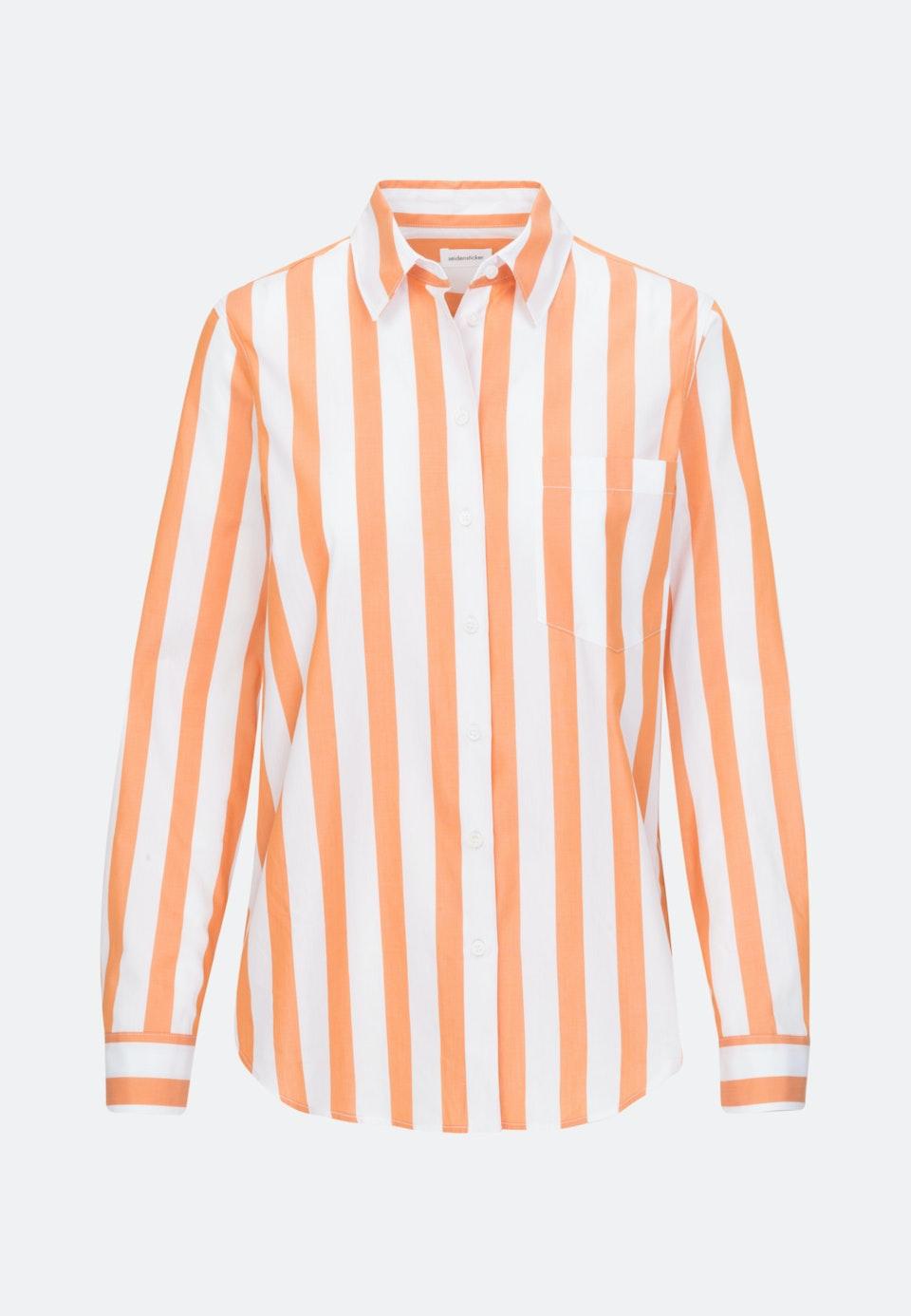 Popeline Hemdbluse aus 100% Baumwolle in Orange |  Seidensticker Onlineshop