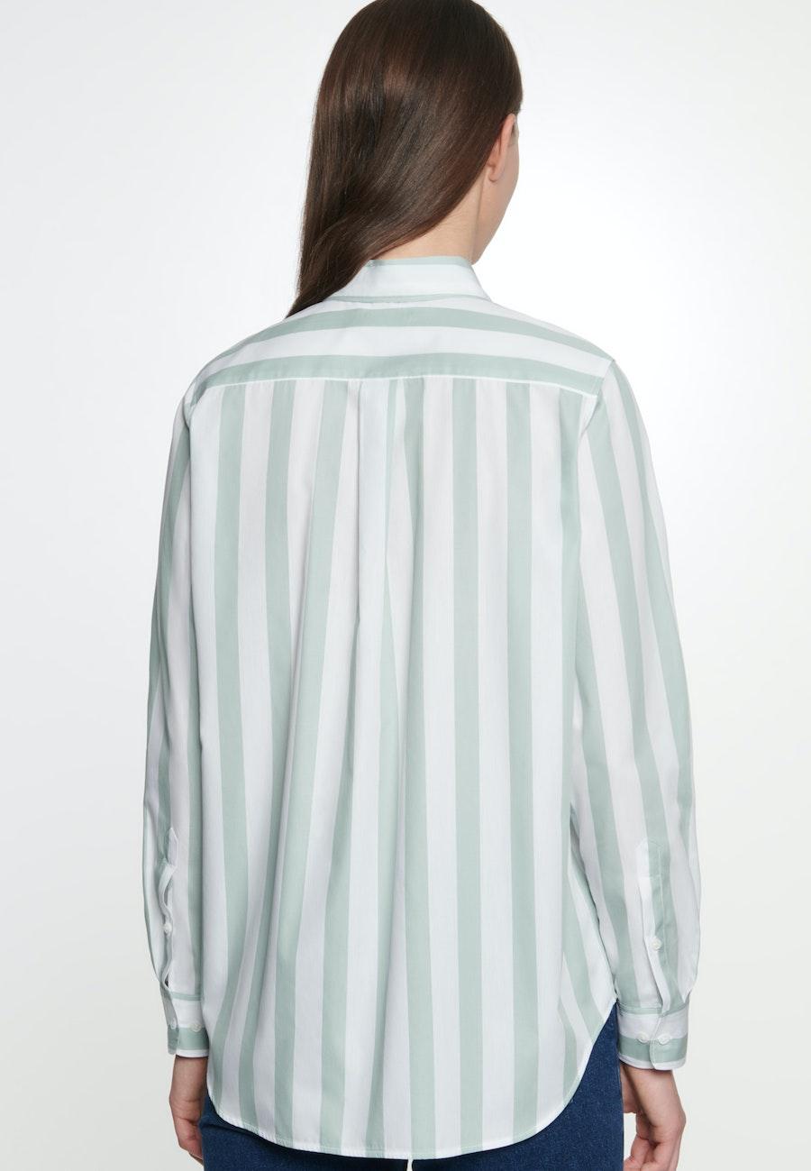 Poplin Shirt Blouse made of 100% Cotton in Green |  Seidensticker Onlineshop