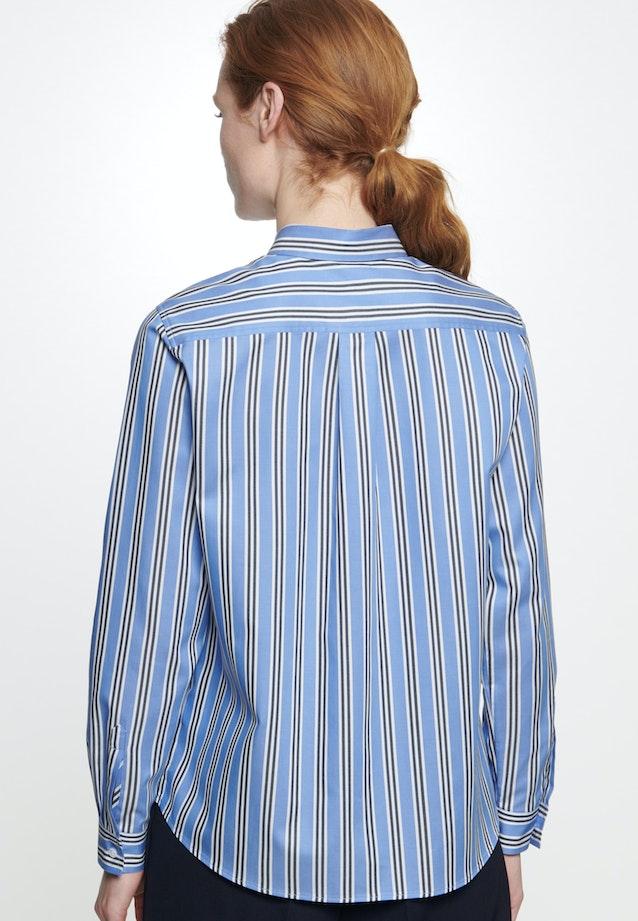 Twill Hemdbluse aus 100% Baumwolle in Mittelblau |  Seidensticker Onlineshop