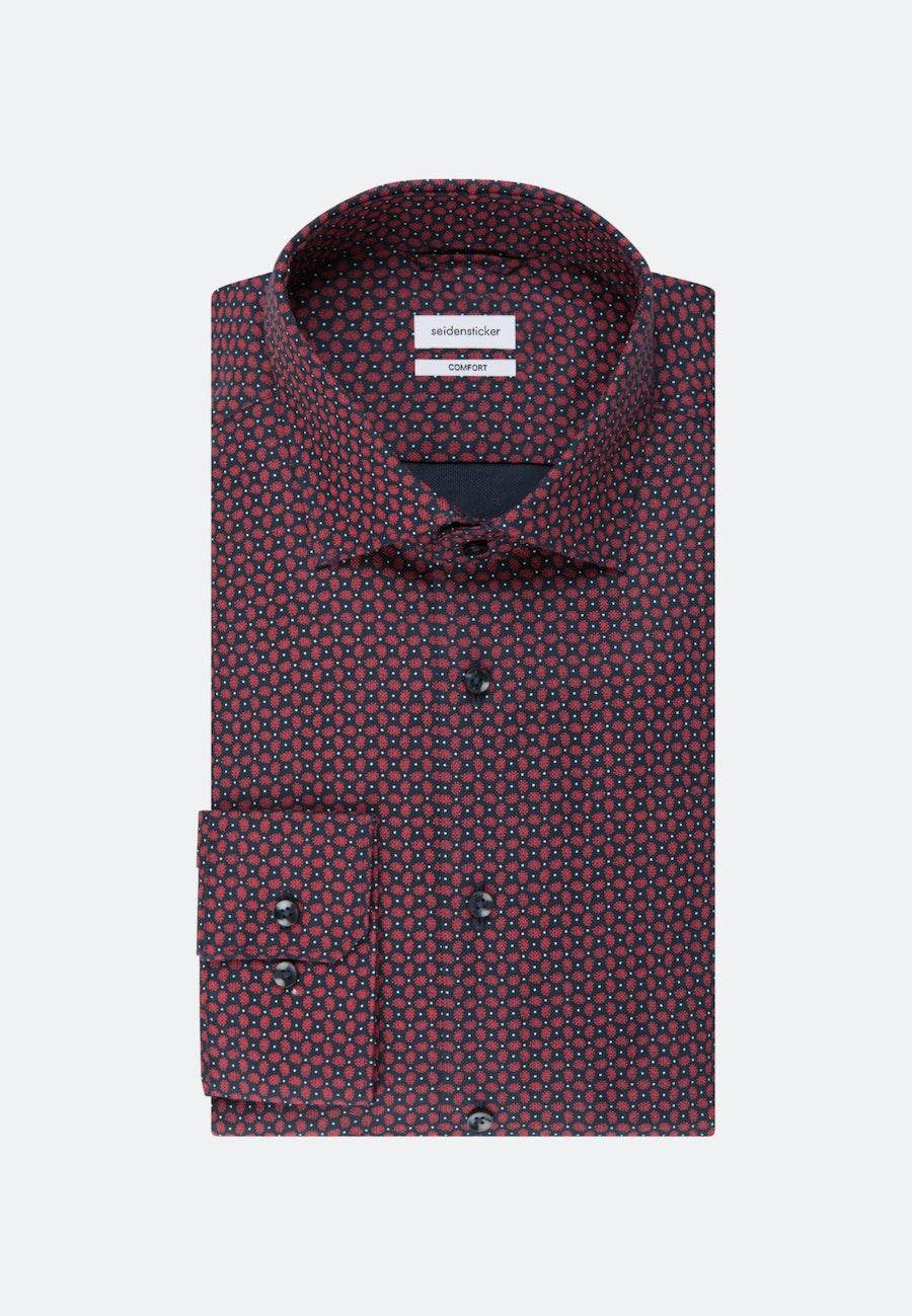 Bügelleichtes Struktur Business Hemd in Comfort mit Kentkragen in Rot |  Seidensticker Onlineshop