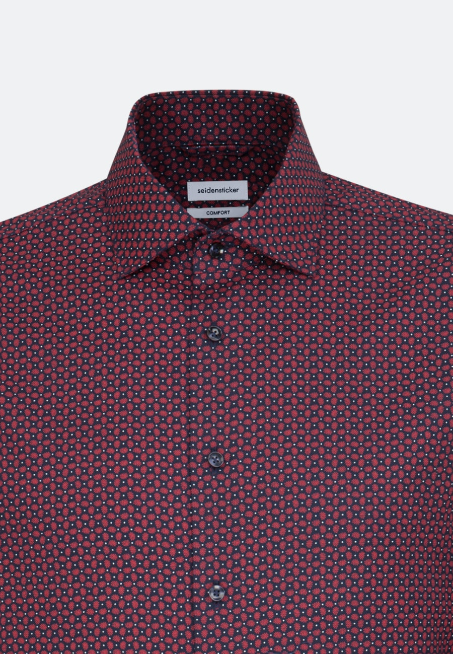 Easy-iron Structure Business Shirt in Comfort with Kent-Collar in Red |  Seidensticker Onlineshop