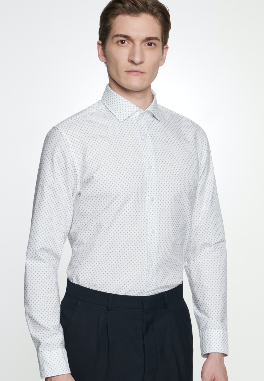 Easy-iron Oxford Business Shirt in Shaped with Kent-Collar in White    Seidensticker Onlineshop