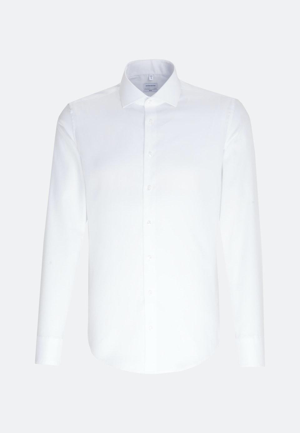 Bügelfreies Oxford Business Hemd in Slim mit Kentkragen in Weiß    Seidensticker Onlineshop