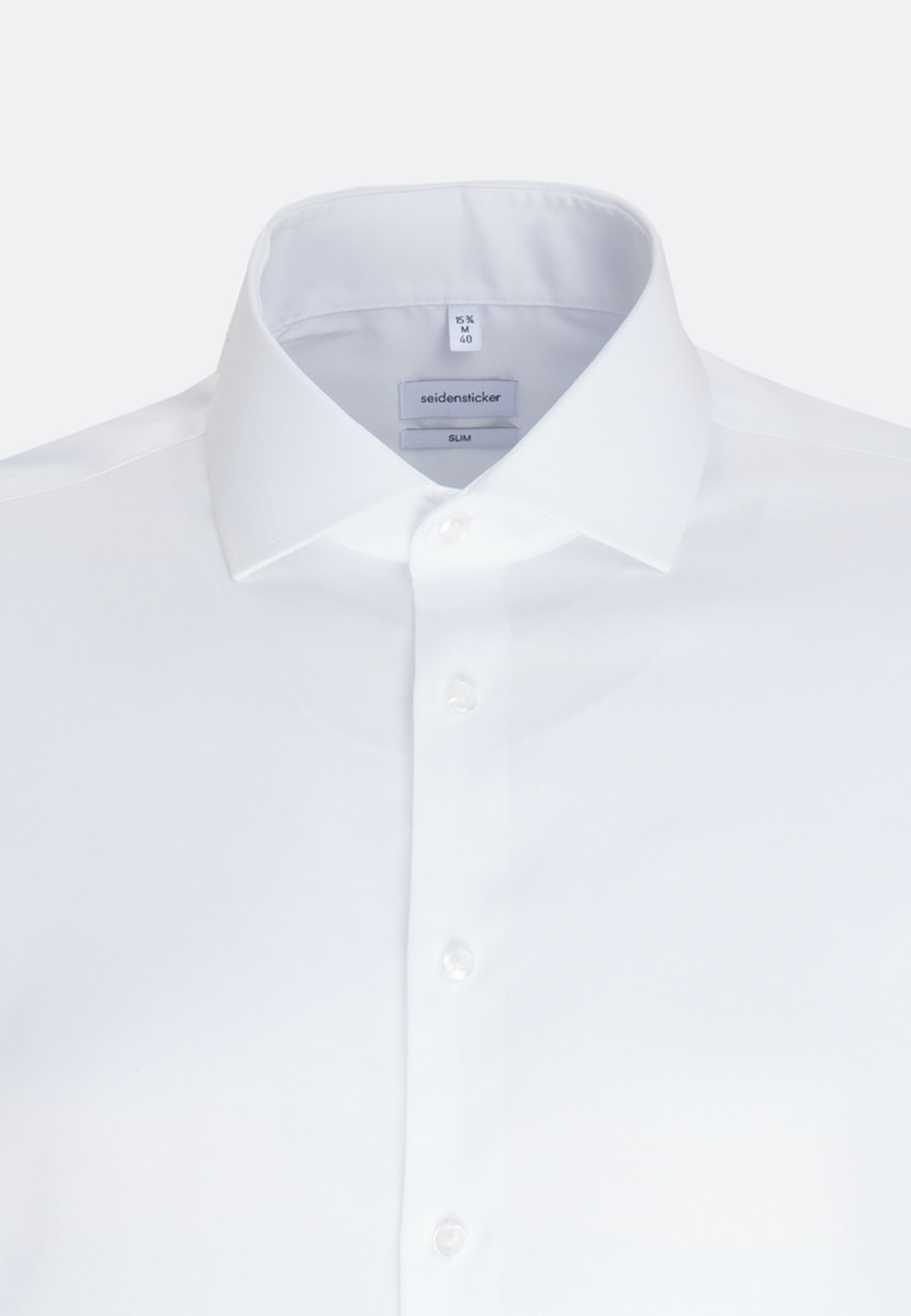 Non-iron Oxford Business Shirt in Slim with Kent-Collar in White |  Seidensticker Onlineshop