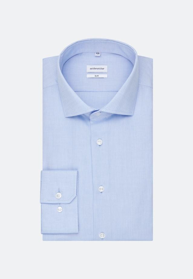 Bügelfreies Oxford Business Hemd in Slim mit Kentkragen in Hellblau    Seidensticker Onlineshop