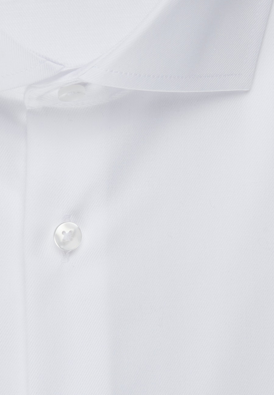 Non-iron Twill Business Shirt in Slim with Kent-Collar in White |  Seidensticker Onlineshop