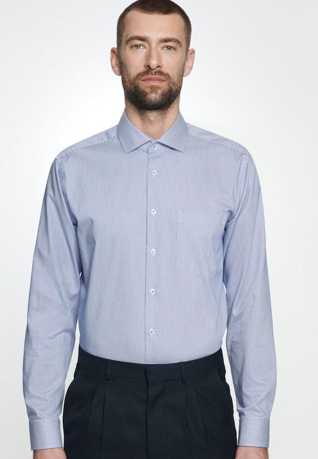Easy-iron Twill Business Shirt in Comfort with Kent-Collar in Medium blue |  Seidensticker Onlineshop