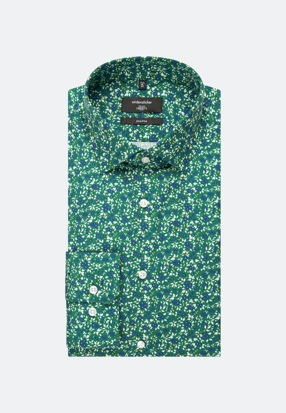 Bügelleichtes Popeline Business Hemd in Shaped mit Kentkragen in Grün |  Seidensticker Onlineshop