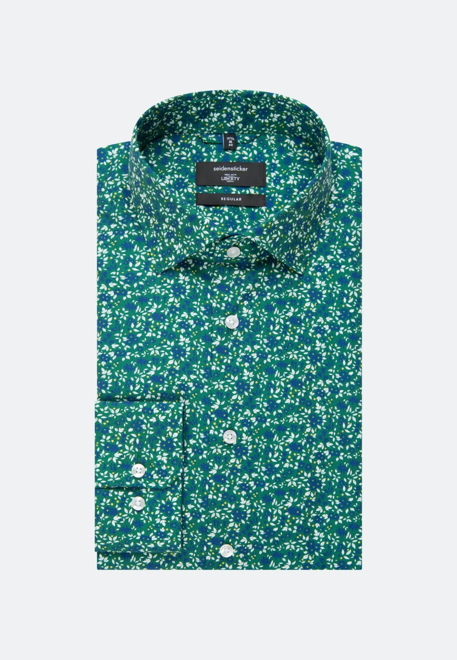Easy-iron Poplin Business Shirt in Regular with Kent-Collar in Green |  Seidensticker Onlineshop