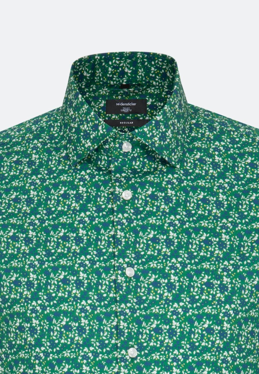 Easy-iron Popeline Business Shirt in Regular with Kent-Collar in Green |  Seidensticker Onlineshop