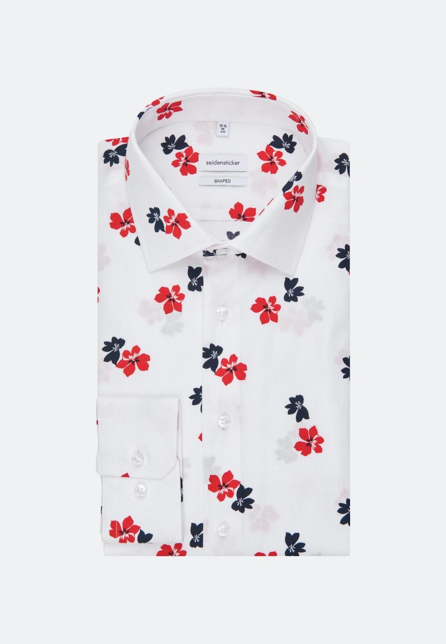 Bügelleichtes Popeline Business Hemd in Shaped mit Kentkragen in Weiß |  Seidensticker Onlineshop