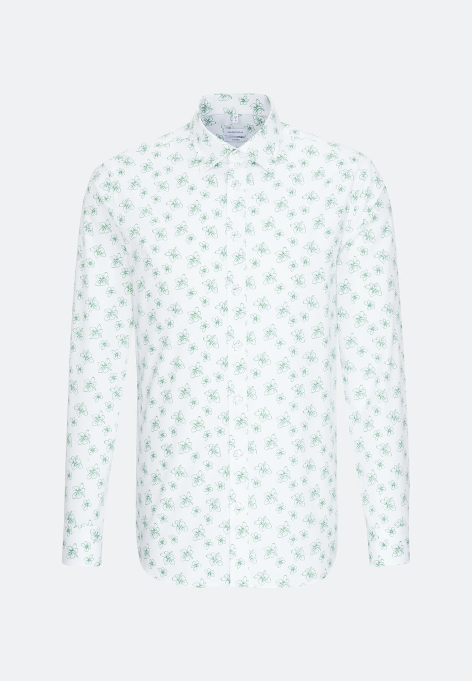 Easy-iron Poplin Business Shirt in Shaped with Covered-Button-Down-Collar in White |  Seidensticker Onlineshop