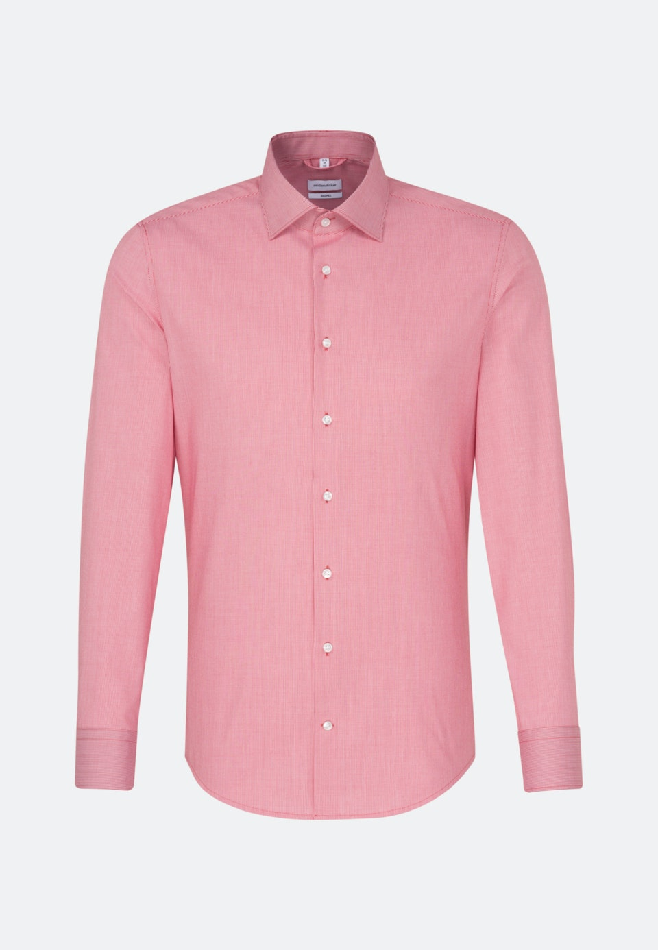 Non-iron Struktur Business Shirt in Shaped with Kent-Collar in Red |  Seidensticker Onlineshop