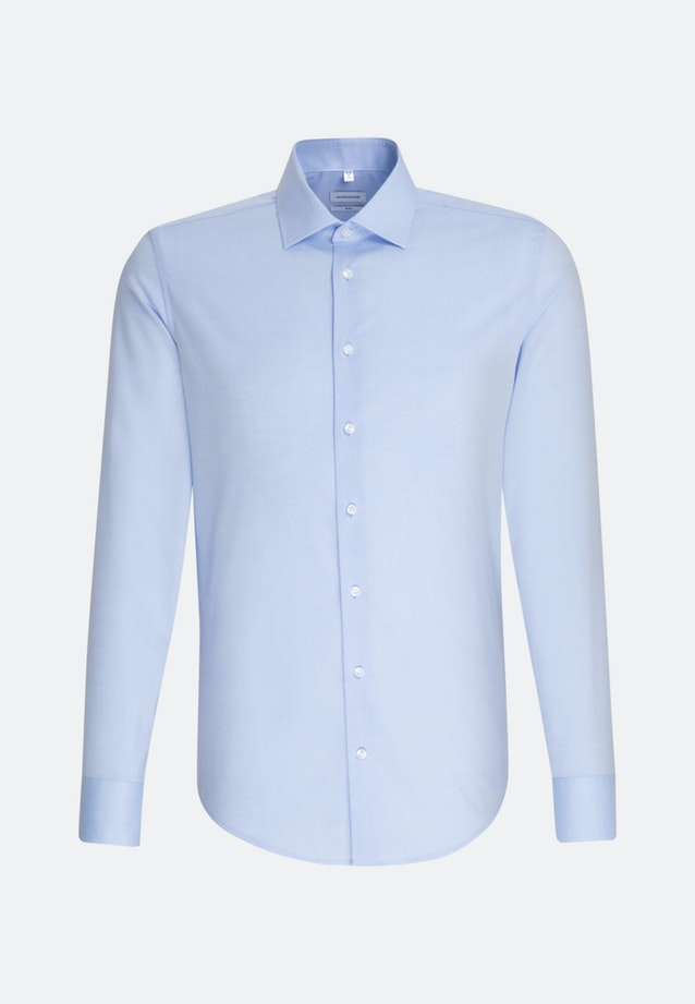 Non-iron Chambray Business Shirt in Slim with Kent-Collar and extra long sleeve in Light blue |  Seidensticker Onlineshop