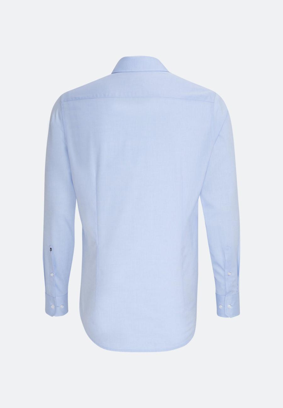 Bügelfreies Chambray Business Hemd in Slim mit Kentkragen und extra langem Arm in Hellblau |  Seidensticker Onlineshop