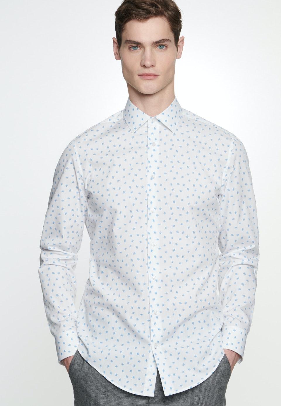 Easy-iron Popeline Business Shirt in Slim with Kent-Collar in Turquoise |  Seidensticker Onlineshop