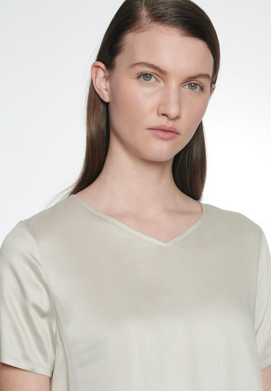 Short sleeve Satin Shirt Blouse made of 100% Viscose in Beige |  Seidensticker Onlineshop