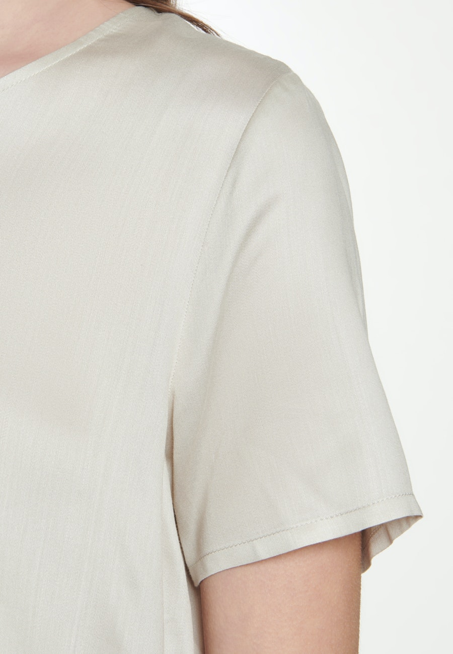 Kurzarm Satin Shirtbluse aus 100% Viskose in Beige    Seidensticker Onlineshop