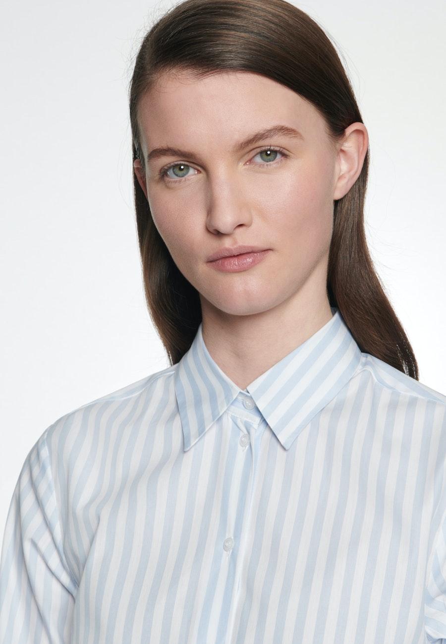 Poplin Shirt Blouse made of 100% Cotton in Light blue |  Seidensticker Onlineshop