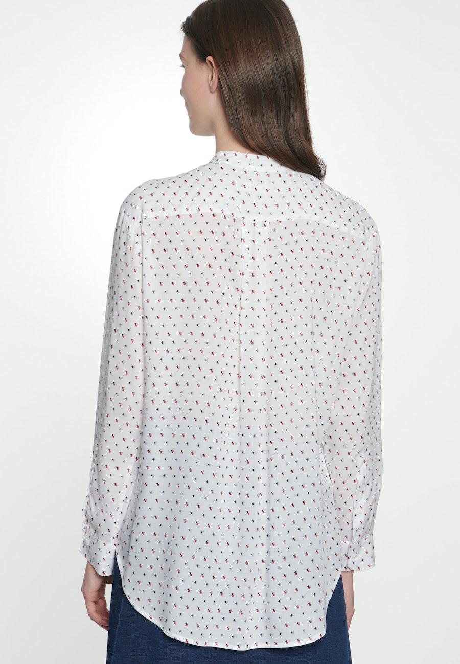 Poplin Stand-Up Blouse made of 100% Viscose in Ecru |  Seidensticker Onlineshop
