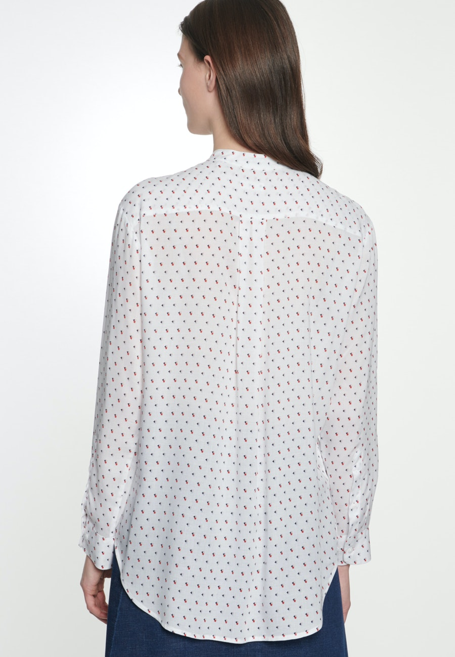 Popeline Stand-Up Blouse made of 100% Viscose in Ecru |  Seidensticker Onlineshop