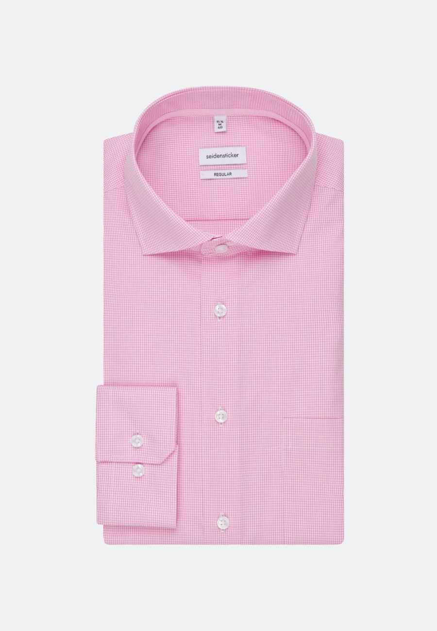 Non-iron Popeline Business Shirt in Regular with Kent-Collar in Pink |  Seidensticker Onlineshop