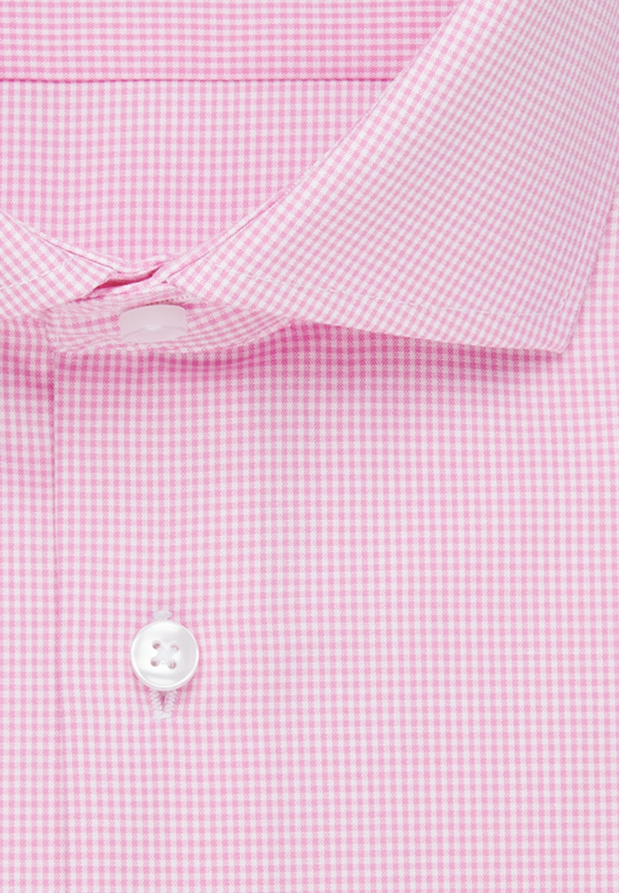 Bügelfreies Popeline Business Hemd in Shaped mit Kentkragen in Rosa/Pink |  Seidensticker Onlineshop