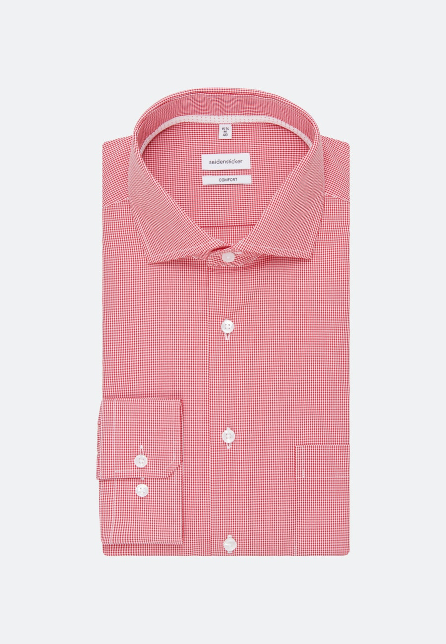 Non-iron Poplin Business Shirt in Comfort with Kent-Collar in Red |  Seidensticker Onlineshop