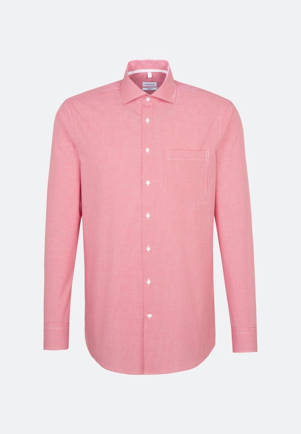 Bügelfreies Popeline Business Hemd in Comfort mit Kentkragen in Rot    Seidensticker Onlineshop