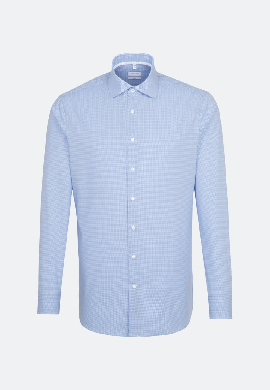 Non-iron Poplin Business Shirt in X-Slim with Kent-Collar in Light blue    Seidensticker Onlineshop
