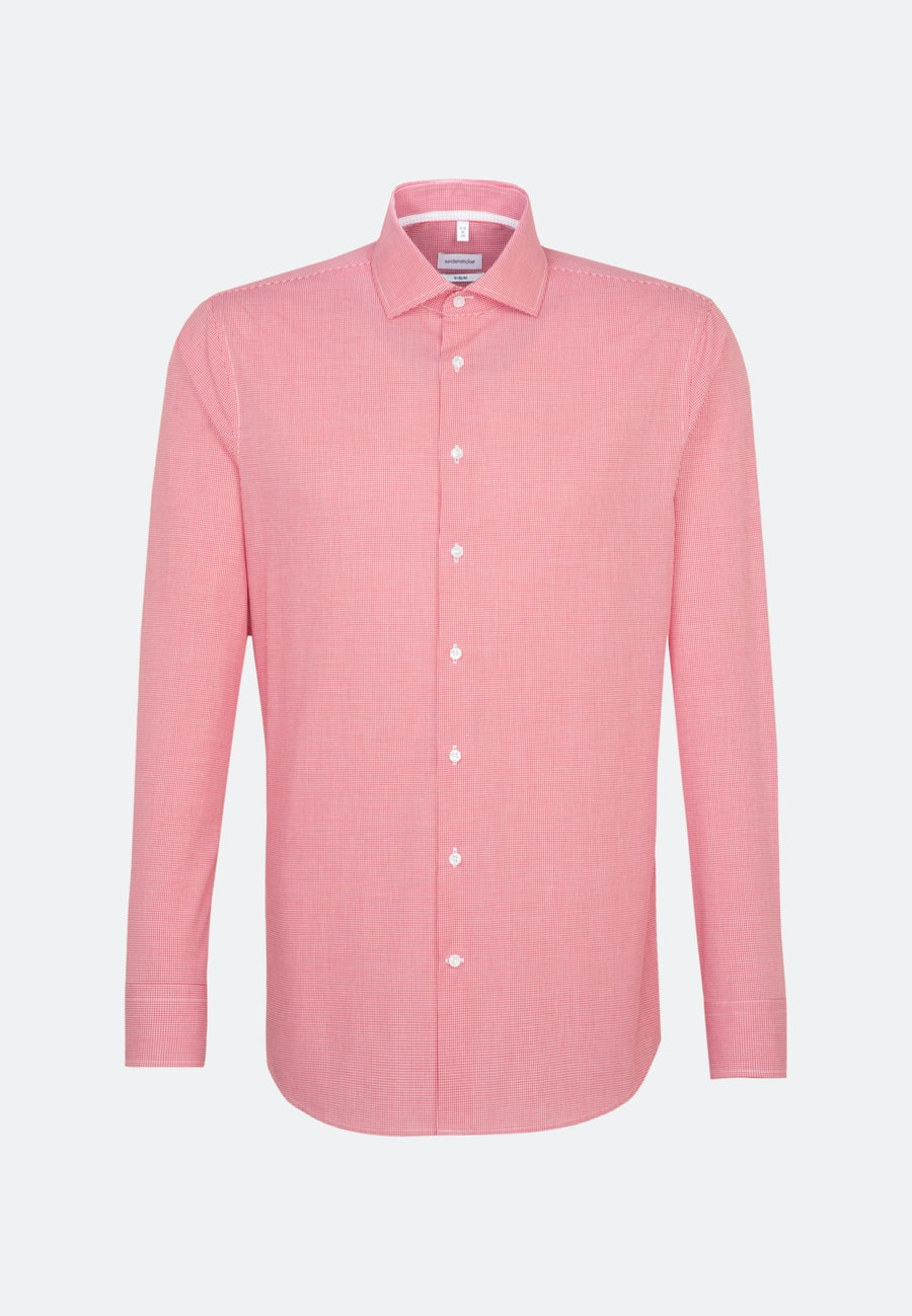 Bügelfreies Popeline Business Hemd in X-Slim mit Kentkragen in Rot |  Seidensticker Onlineshop