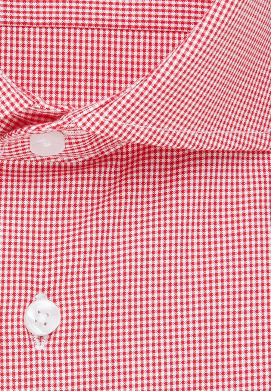 Non-iron Popeline Business Shirt in Slim with Kent-Collar in Red |  Seidensticker Onlineshop