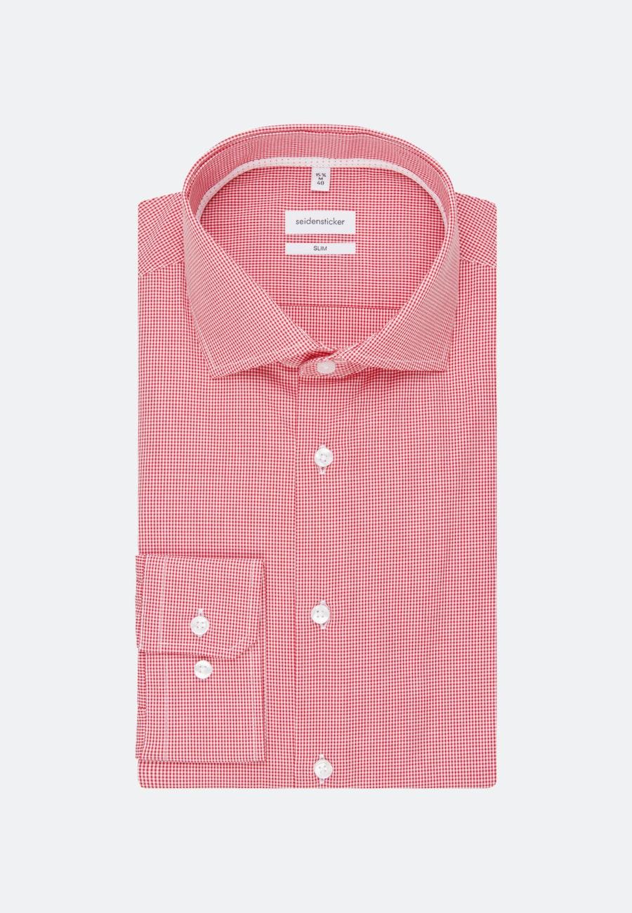 Non-iron Poplin Business Shirt in Slim with Kent-Collar in Red |  Seidensticker Onlineshop