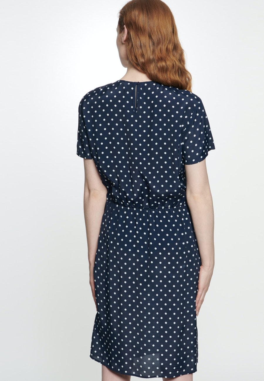 Voile Midi Kleid aus 100% Viskose in Dunkelblau |  Seidensticker Onlineshop