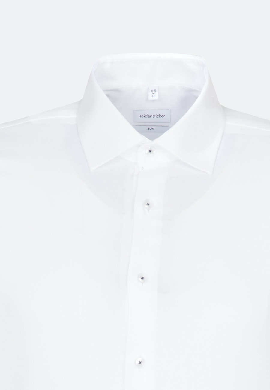 Non-iron Struktur Business Shirt in Slim with Kent-Collar and extra long sleeve in White |  Seidensticker Onlineshop