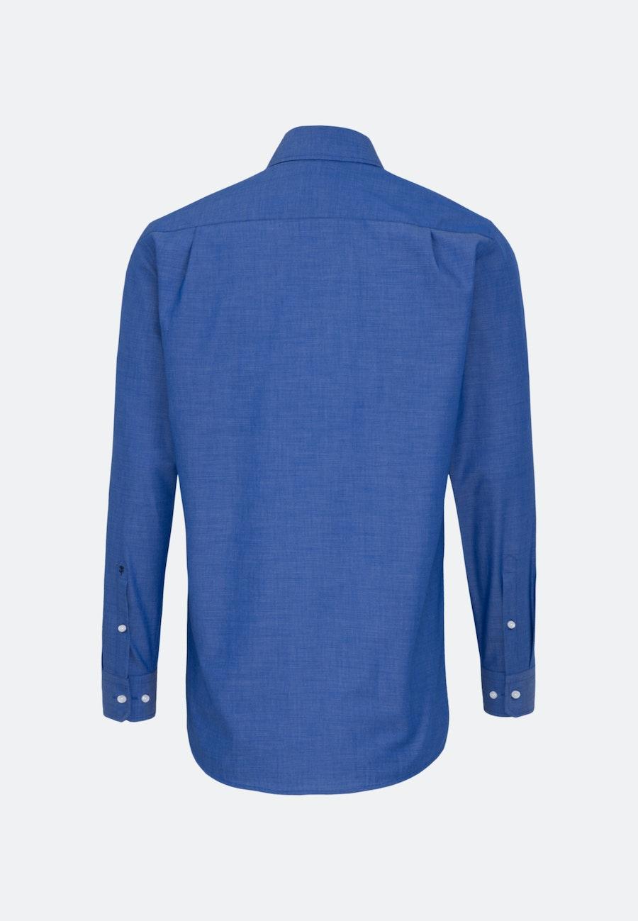Bügelfreies Fil a fil Business Hemd in Regular mit Kentkragen in Mittelblau |  Seidensticker Onlineshop