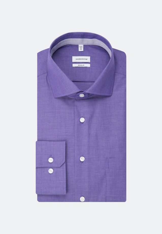 Non-iron Fil a fil Business Shirt in Regular with Kent-Collar in Purple |  Seidensticker Onlineshop