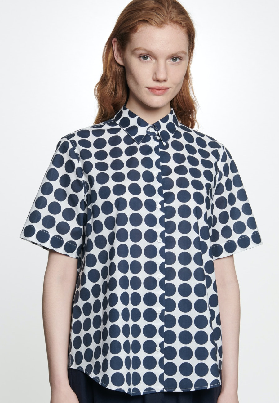 Kurzarm Voile Hemdbluse aus 100% Baumwolle in Weiß |  Seidensticker Onlineshop