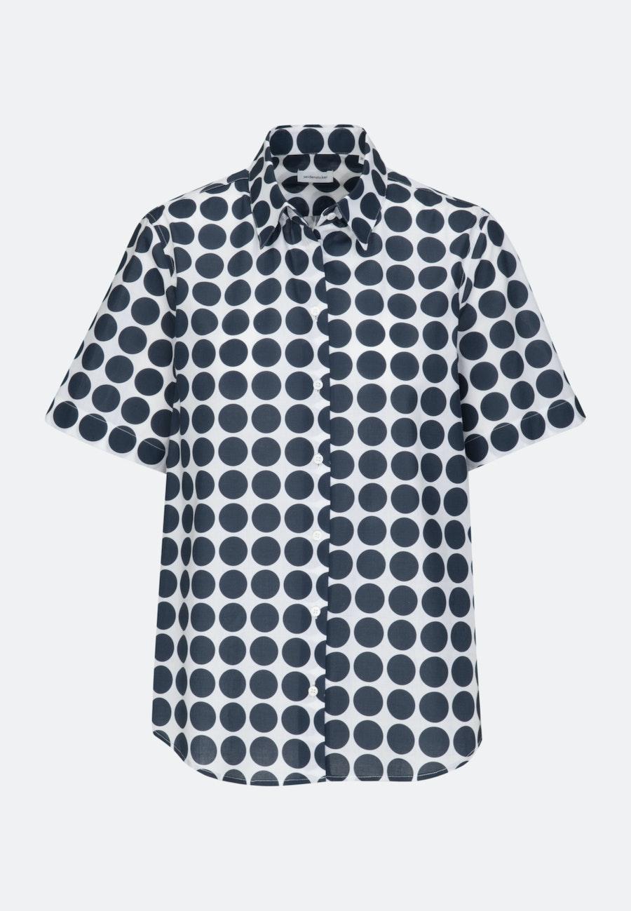 Short sleeve Voile Shirt Blouse made of 100% Cotton in Ecru |  Seidensticker Onlineshop