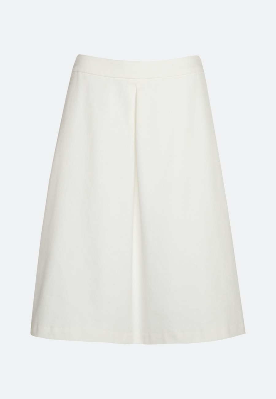 Twill Midi Skirt made of 100% Cotton in Ecru |  Seidensticker Onlineshop