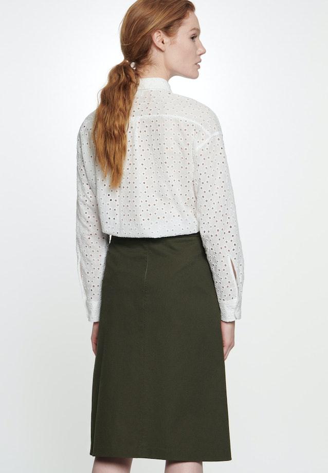 Twill Midi Skirt made of 100% Cotton in Green |  Seidensticker Onlineshop