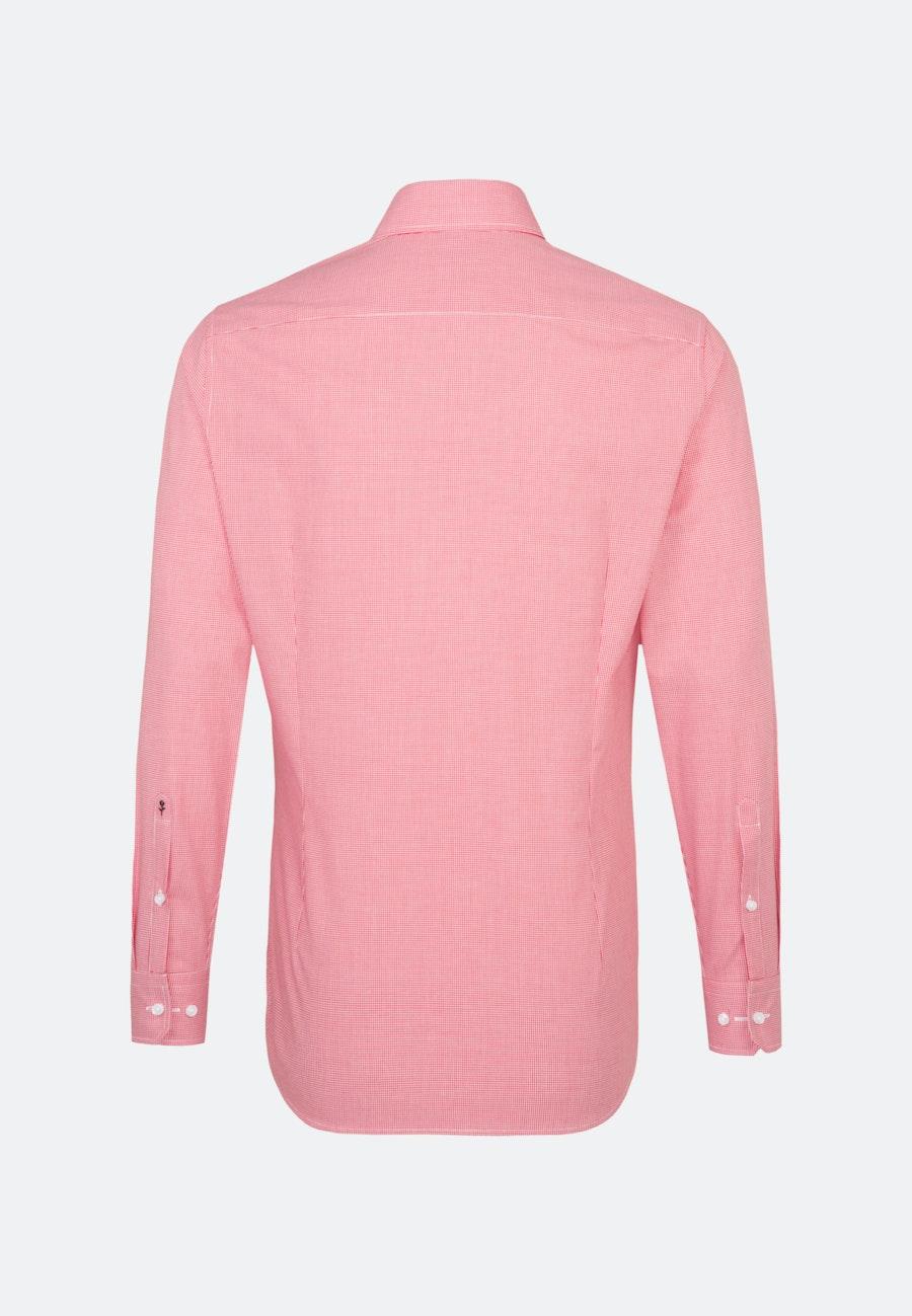 Bügelfreies Popeline Business Hemd in Slim mit Kentkragen und extra langem Arm in Rot |  Seidensticker Onlineshop