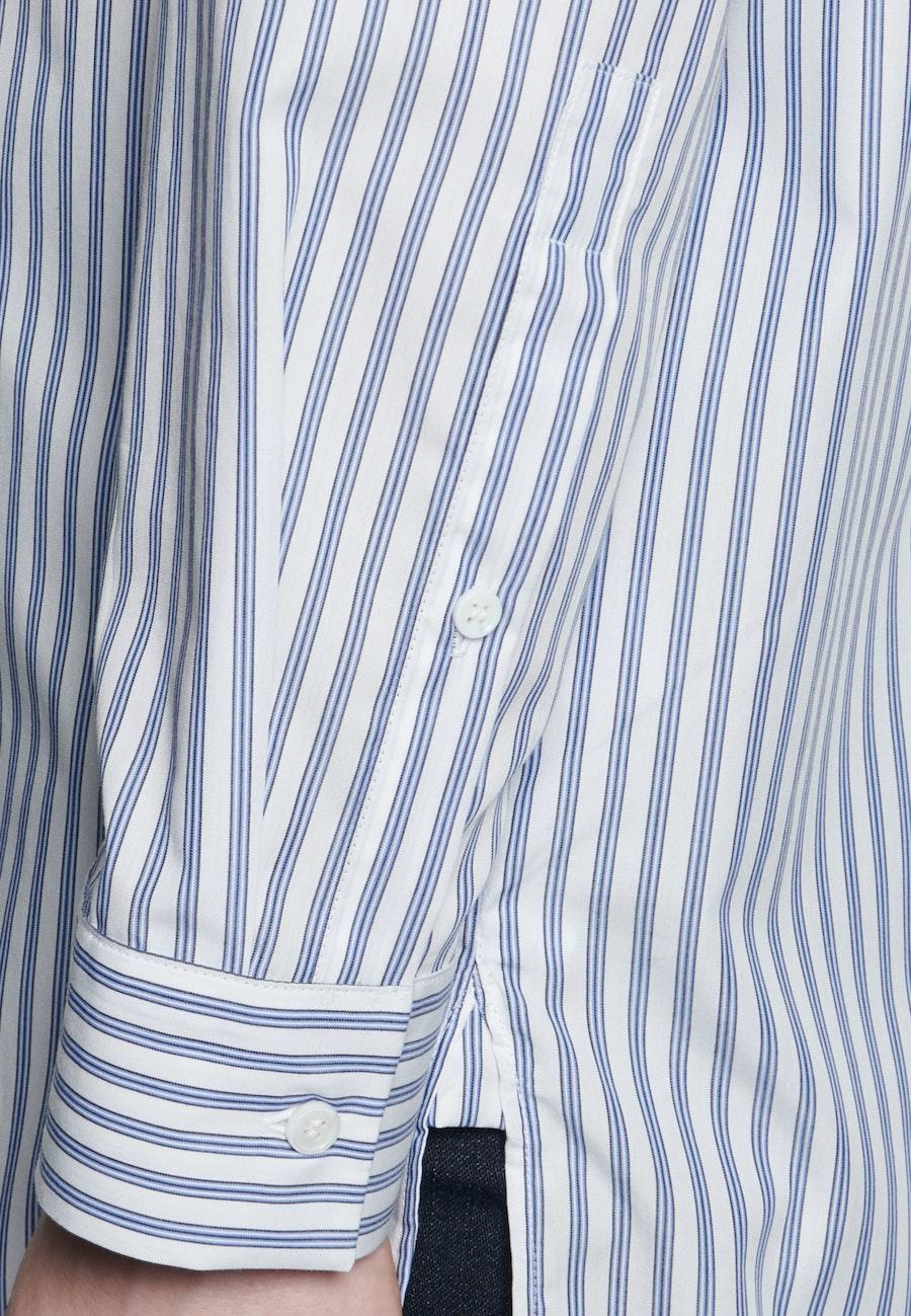 Popeline Longbluse aus 100% Baumwolle in Hellblau |  Seidensticker Onlineshop