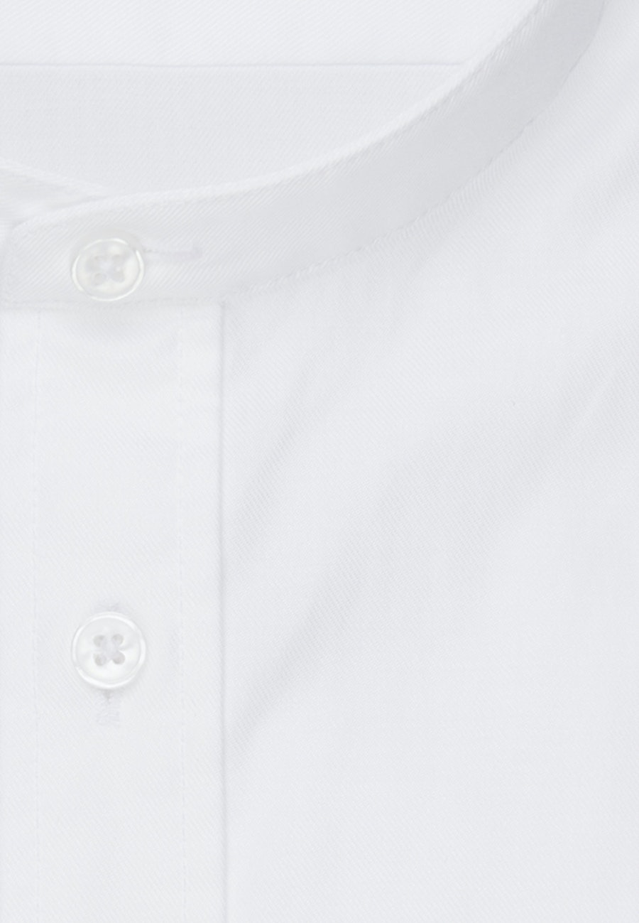 Easy-iron Twill Business Shirt in Shaped with Stand-Up Collar in White |  Seidensticker Onlineshop