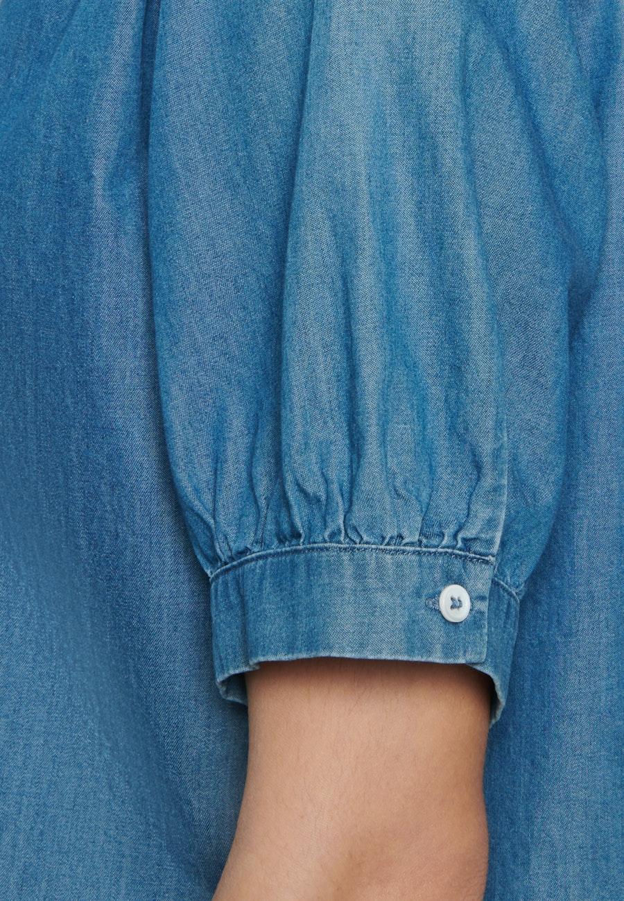 Short sleeve Denim Shirt Blouse made of 100% Cotton in Dark blue |  Seidensticker Onlineshop