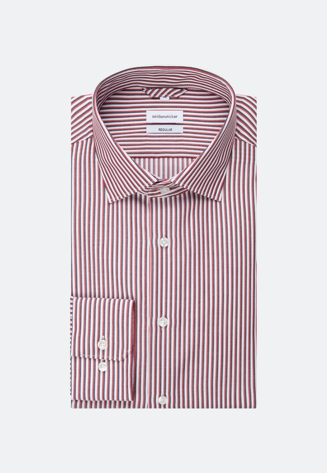 Non-iron Cotele Business Shirt in Regular with Kent-Collar in Red |  Seidensticker Onlineshop