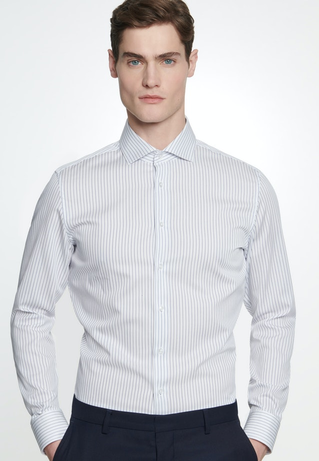 Easy-iron Cotele Business Shirt in Shaped with Kent-Collar in White |  Seidensticker Onlineshop